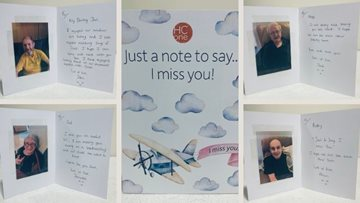 Wigan Residents write endearing cards to loved ones